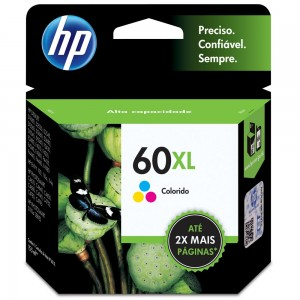 Cartucho de Tinta HP 60XL Tricolor 15,5ml | CC644WB | Original