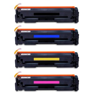 Kit 4 Toner Compatível HP CF500A CF501A CF502A CF503A 202a M254DW M280NW M281FDN