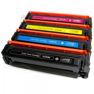 Kit 4 Toner Compatível HP CF510A CF511A CF512A CF513A 204A M154A M154NW M181FW