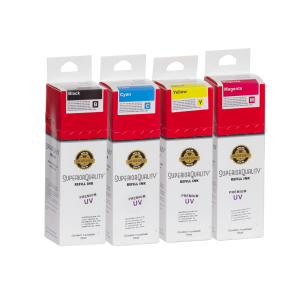 Kit Tinta para Epson Corante x4 70ml UV | L200 L210 L220 L110 L355 L555 L455 L365 L800 | Superior Quality Ink